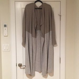 Athleta Long Color Block Cashmere Cardigan
